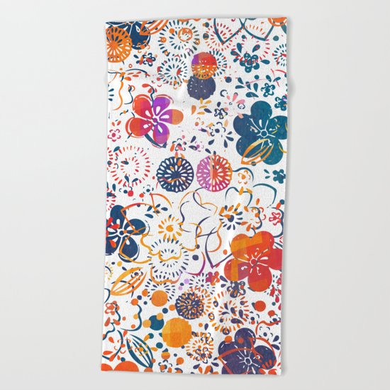 Summer Meadow Beach Towel