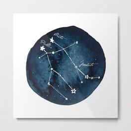 Gemini Zodiac Constellation Metal Print