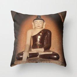 Buddha in Bagan Throw Pillow