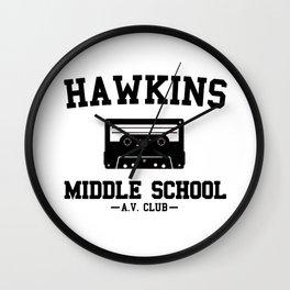 Hawkins Middle School AV Club Wall Clock