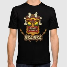Uka-Uka (Crash Bandicoot) Mens Fitted Tee Black 2X-LARGE