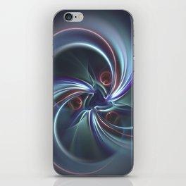 Moons Fractal in Cool Tones iPhone Skin