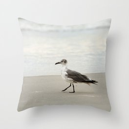 Seagull Stroll Throw Pillow