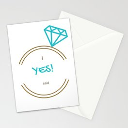 I said Yes! Stationery Cards