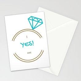 I said Yes! Stationery Cards