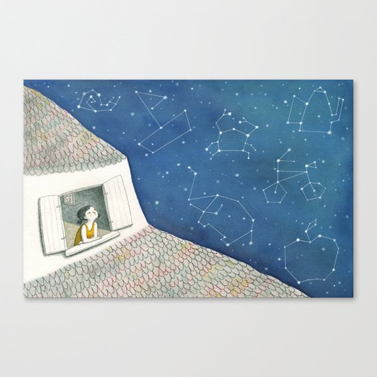 Dreamy night Canvas Print
