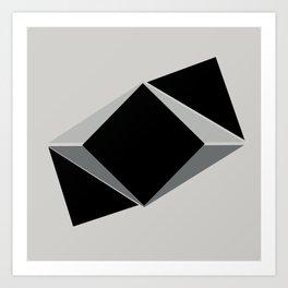 Shapes, black and grays Art Print