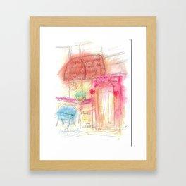 Drawing - Cafe Remix Framed Art Print