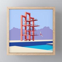 Soviet Modernism: Diving tower in Etchmiadzin, Armenia Framed Mini Art Print