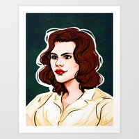 peggy carter Art Prints featuring Peggy Carter by Nisie