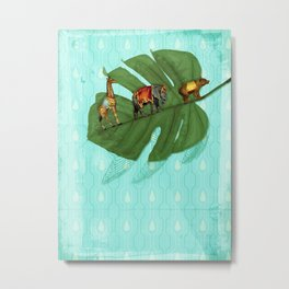 Vintage Sympathetic collection: Leaf and Circus Animals Metal Print