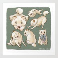 Kiba The Blind Shiba, Concept Art Art Print