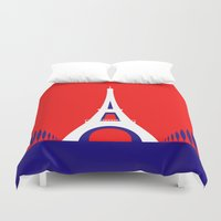 france Duvet Covers featuring FRANCE by Marcus Wild
