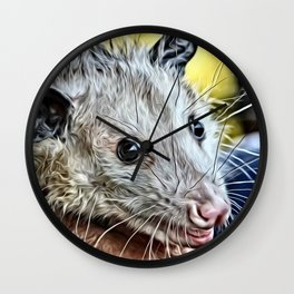 Impressive Animal - cute possum Wall Clock