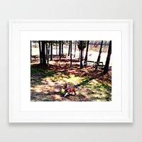 sasha grey Framed Art Prints featuring Sasha by Christa Bethune Smith