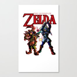 Majora's mask skull kid and link diety Canvas Print