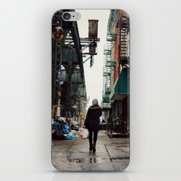 Walking Through Bushwick, Brooklyn iPhone Skin