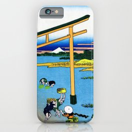 Mt,FUJI36view-Nobotonoura - Katsushika Hokusai iPhone Case