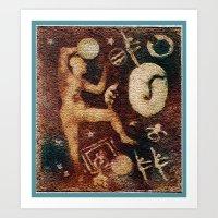 ancient gliphs Art Print