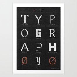 I ♥ Typography Art Print
