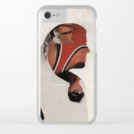 how can I listen to blink 182 without crying about my brother? Clear iPhone Case