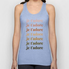 je t'adore in earthy colors Unisex Tank Top