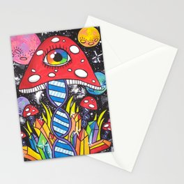 Psychedelic DNA Stationery Cards