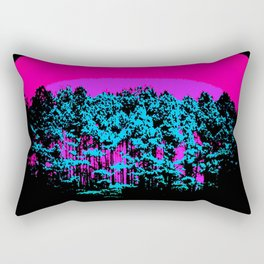 Mod Trees: Fuchsia Purple Turquoise Rectangular Pillow