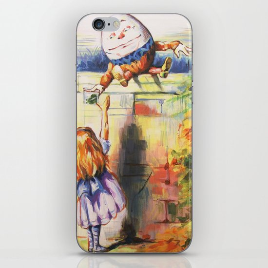 Alice Meeting Humpty Dealer iPhone Skin
