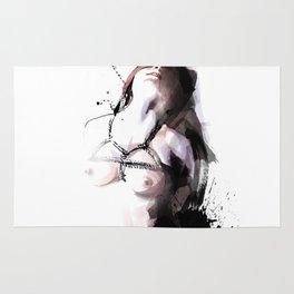 Shibari - Japanese BDSM Art Painting #3 Rug