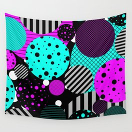 Circles, Bubbles And Stripes Wall Tapestry