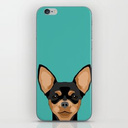 Chihuahua dog head pet portrait cute pet art chiwawas dog breed pure breeds iPhone Skin