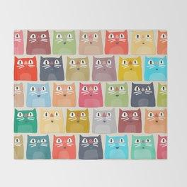 summer cats Throw Blanket