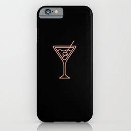 Schönes Cocktail Glas als Party Geschenk liquor iPhone Case