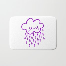 Sad crying cloud Bath Mat