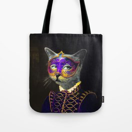 The Cat Behind the Mask Tote Bag