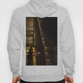 Bay Bridge Fire Boat at Night Hoody