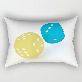 Rolling dices #3 Rectangular Pillow