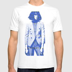 Suit SMALL Mens Fitted Tee White