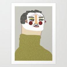 Man Illustration. Art Print
