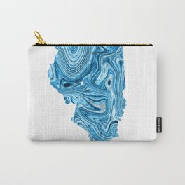 Illinois - State Map Art - Abstract Map - Blue Carry-All Pouch