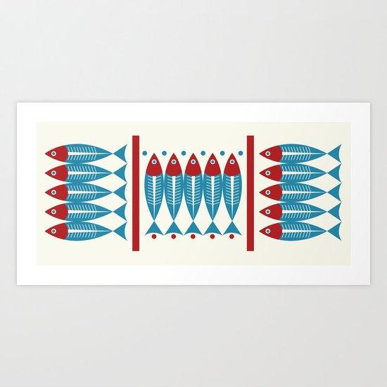 Red Fish, Blue Fish Art Print