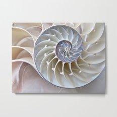 Nautilus Shell Metal Print