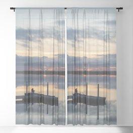 Fishing Refection Sheer Curtain