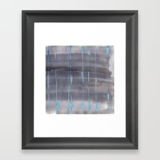 Grey Rain Framed Art Print