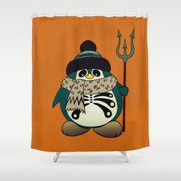 Harold The Penguin.Halloween character Shower Curtain