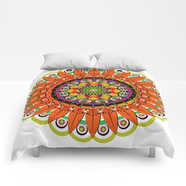 Mandala Sunflower Comforters