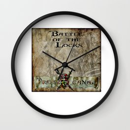 Battle of the locks bywhacky Wall Clock