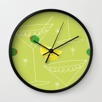 cocktail Wall Clocks featuring Cocktail by ViconiaMcAliens