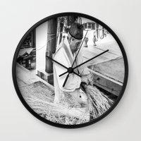 korean Wall Clocks featuring Korean Traditional Craftsman by Jennifer Stinson